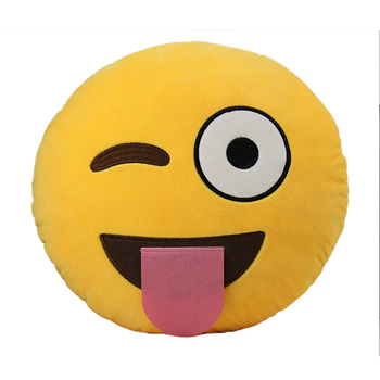 Home Decor Grin Emoji Emoticon Pillow Soft Plush Custom Whatsapp