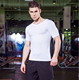 Hot Selling Fitness Clothing Men Short Sleeve quick dry T shirt / Gym Fit v neck t-shirts for men