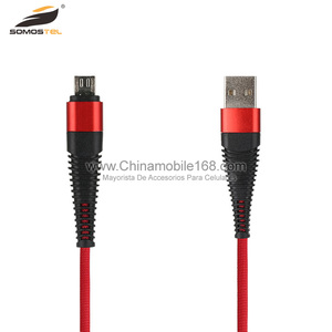 Strong SR bending data usb cable with nylon braiding and protective sleeve for 18 pin mobile phone usb data cable