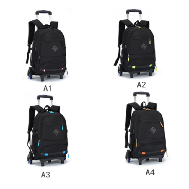 Osgoodway Rolling Backpack Luggage Wheeled Backpack Travel Laptop Six Wheels Unisex Trolley School Bags for Boys Girls Kids