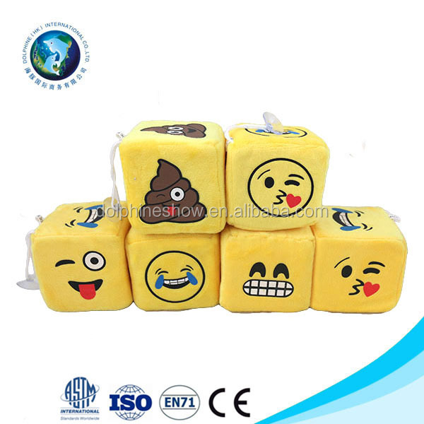 Popular Yellow Keychain Emotion Stuffed Toy Creative QQ Emoji Pillow Cheap Gift