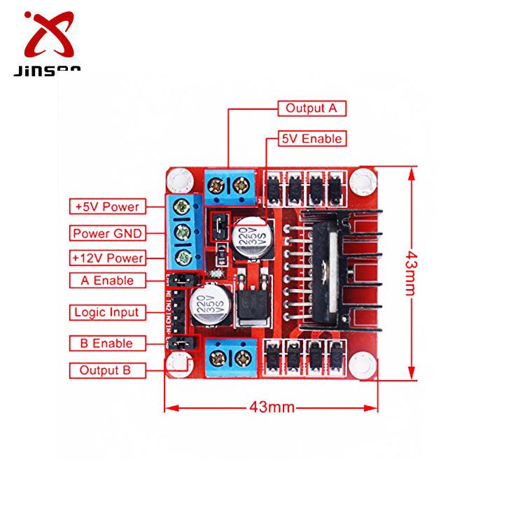 L298 L298n Motor Driver Board Motor Driver Module L298 L298n Motor