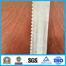 Galvanized serrated flat bar for steel grating floor