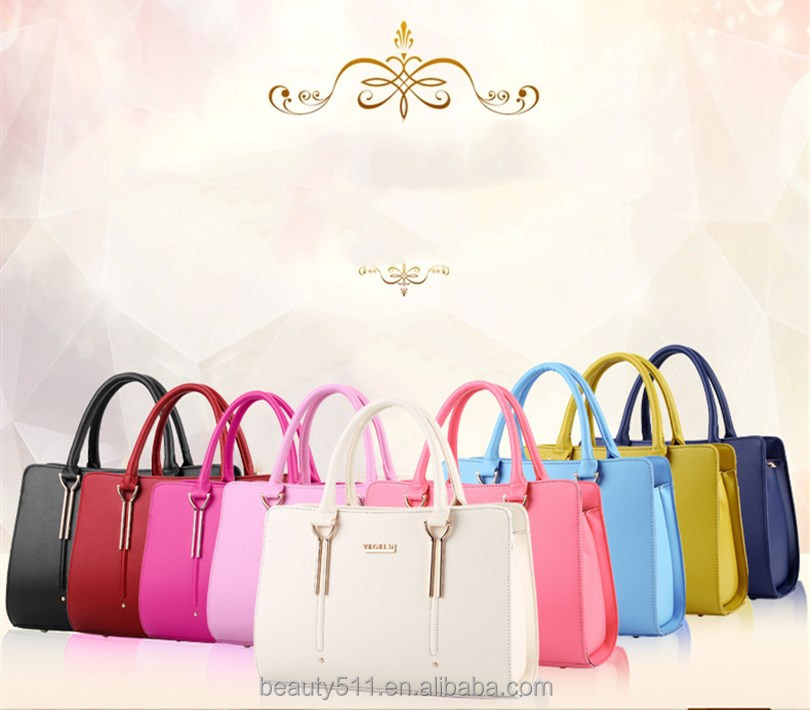 Supplier Fashion delicate designer PU lady handbags for fashion trend women bags HB34