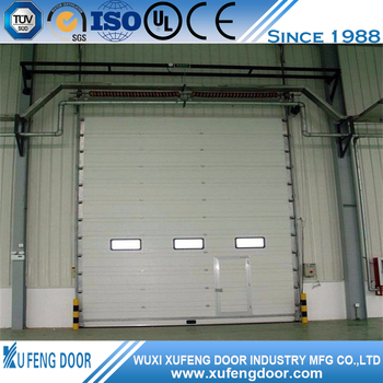 Steel Panel Warehouse Sliding Industry Door With Little Window
