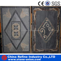 water jet marble floor medallion &Mosaic slate Flooring tiles &outdoor wall stone