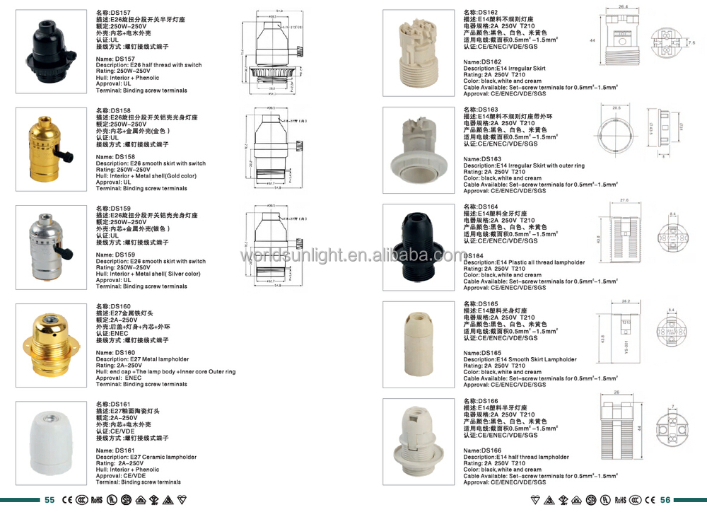 All Types Ce Saa Ul Approved Waterproof E14 E27 Lamp