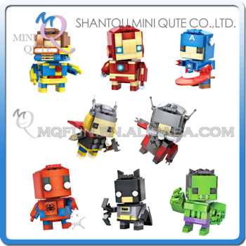 Mini Qute LOZ marvel avenger Captain America Captain America thor Diamond plastic building block brick Kid model educational toy