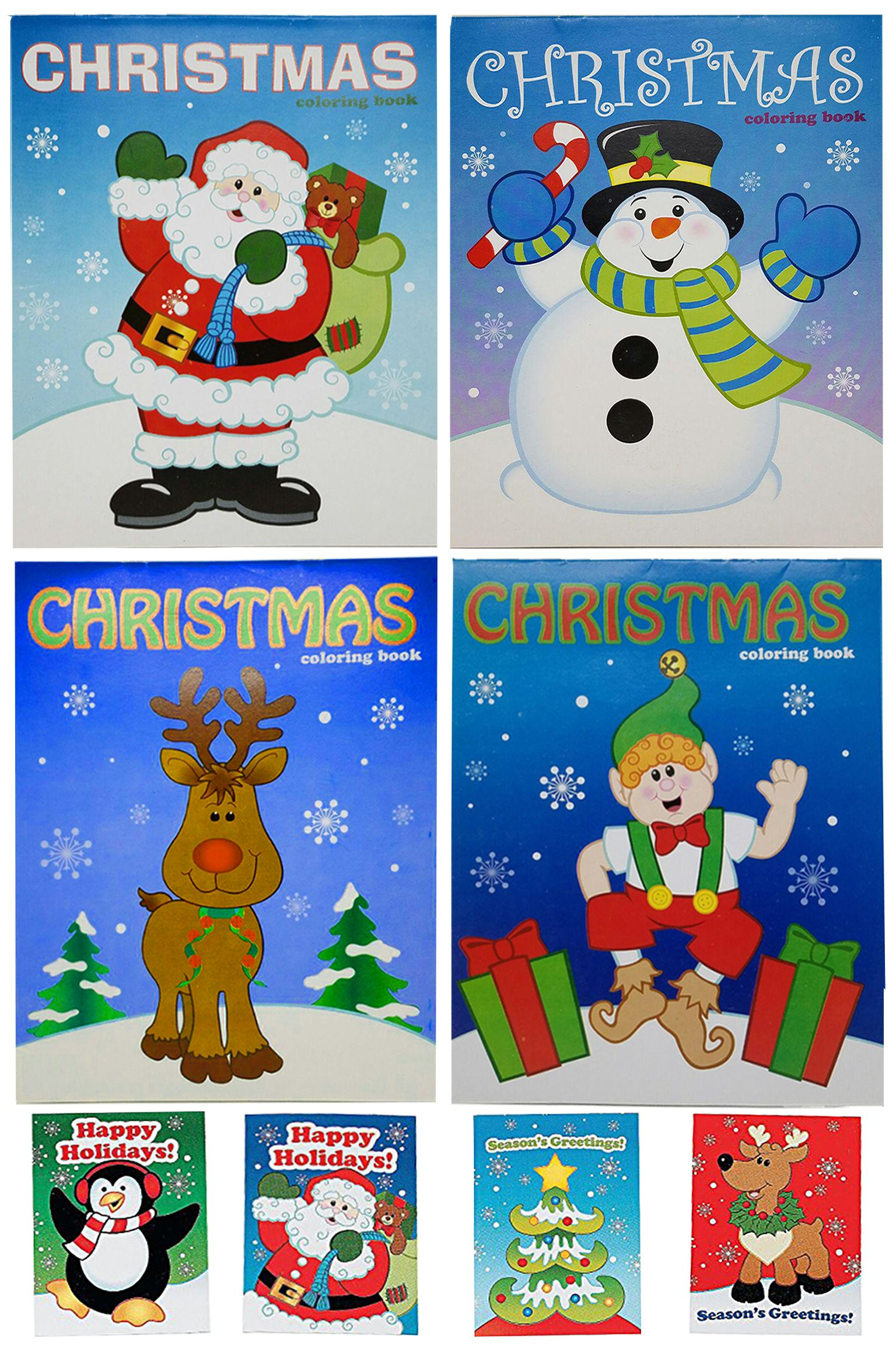 Get Quotations · Christmas Activity Coloring Books and Mini Holiday Fun  Books, Set, 12 Christmas Coloring Books