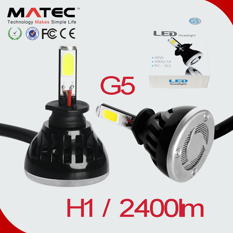 h1 led car light h3 led 12v hb3 hb4 880 881 cob headlight automotive led bulb xenon White