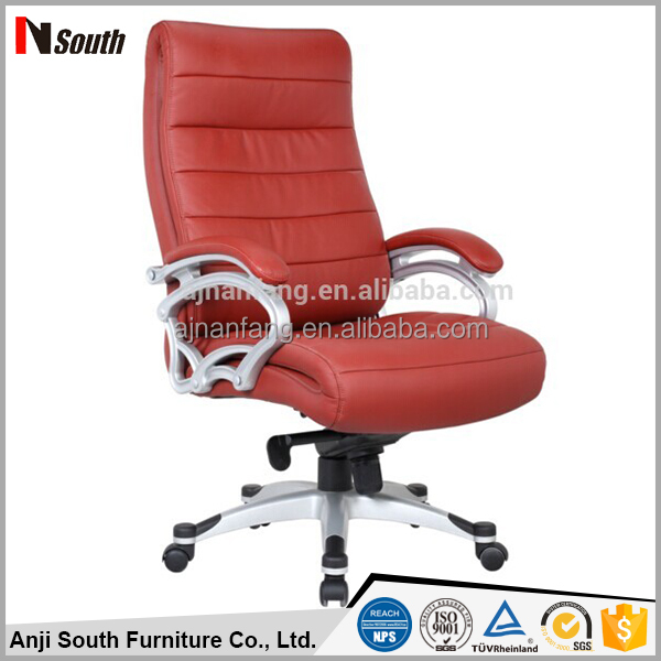 Hot sale pu leather office swivel lift chair with painted armrest