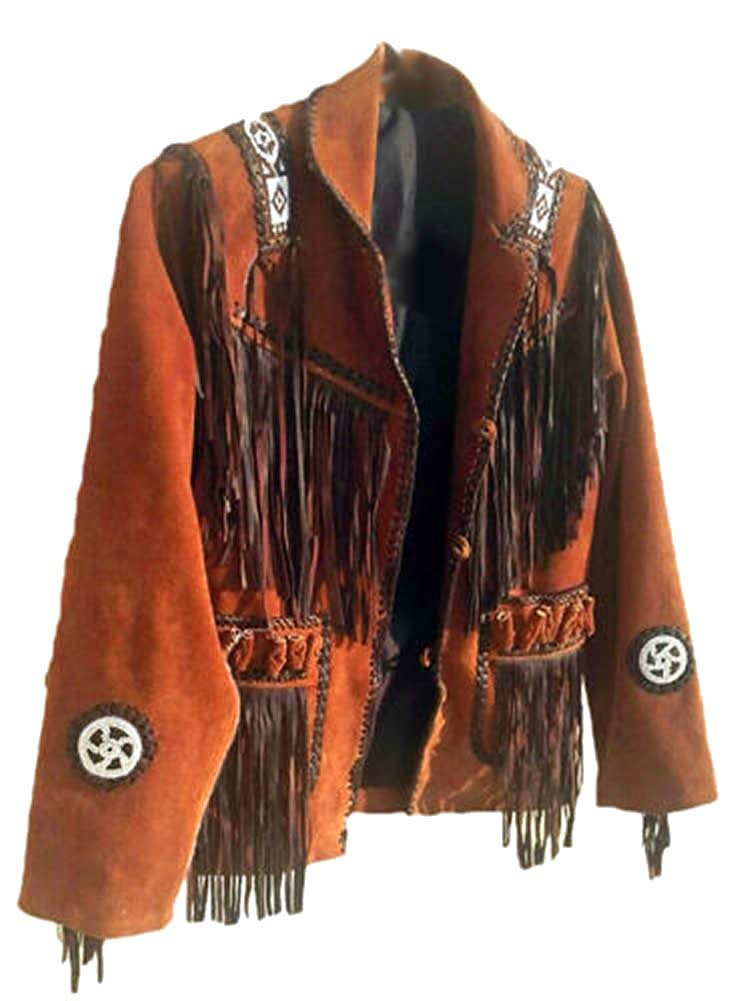 Sleekhides Mens Western Cowboy Stylish Jacket Fringed /& Beaded
