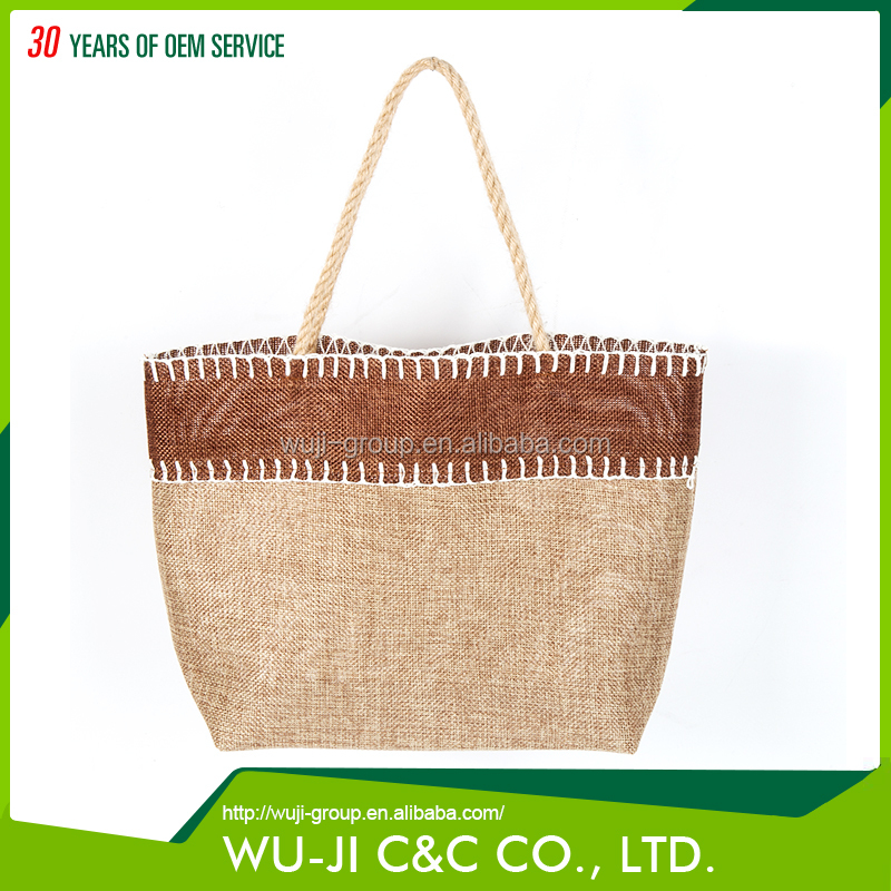 Buy direct from China wholesale eco-friendly burlap gift tote bag