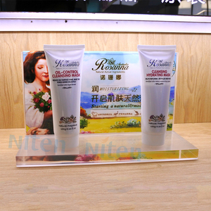 L-stand Exhibition Skin Care Products Desktop Acrylic Display Stands