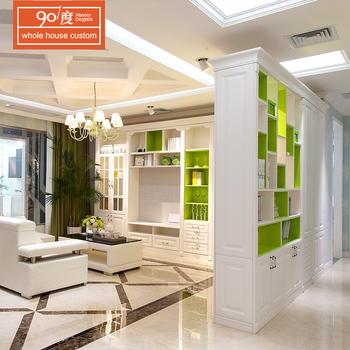White Color Melamine Bookcases Modern Style Pvc Bookcase For Living Room View Melamine Bookcases Ninety Degree Product Details From Foshan Naniya
