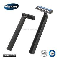 twin blade stainless steel korea disposable razor blade