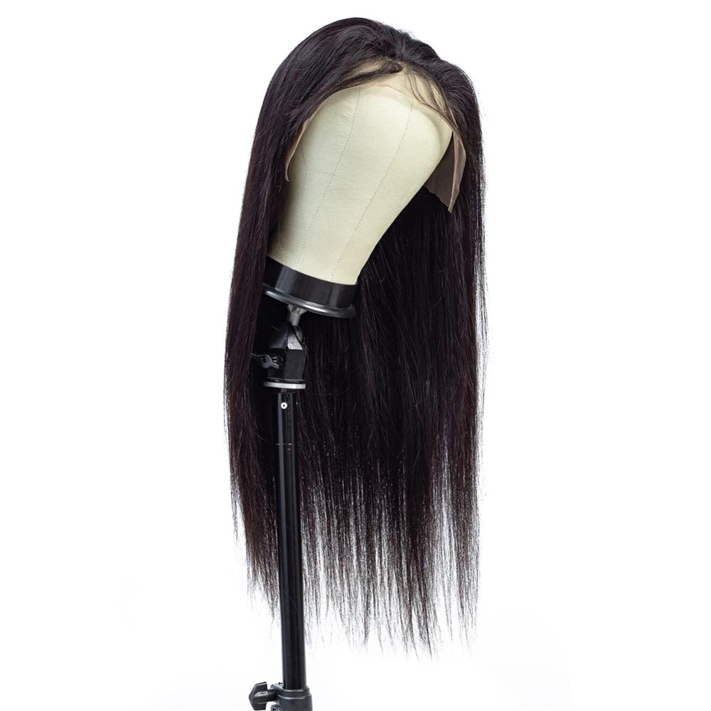100% Brazilian Human Hair 13*4 Lace Front Wig For Black Women Overnight Delivery 150% Density Silk Straight Human Hair Lace Wig