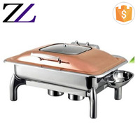 Sunnex shafing dish hotel kitchen equipment list hydraulic rose gold oblong 9 litres catering equipment copper chafing dish