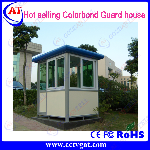 Factory price colourbond steel Customized design prefabricated sentry box security shelter guard house cabin