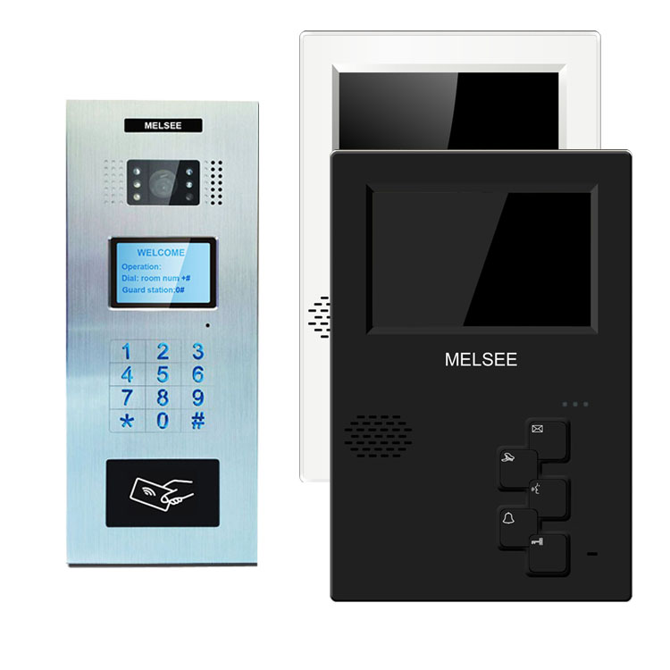 Analog video door bell room to room intercom for apartment