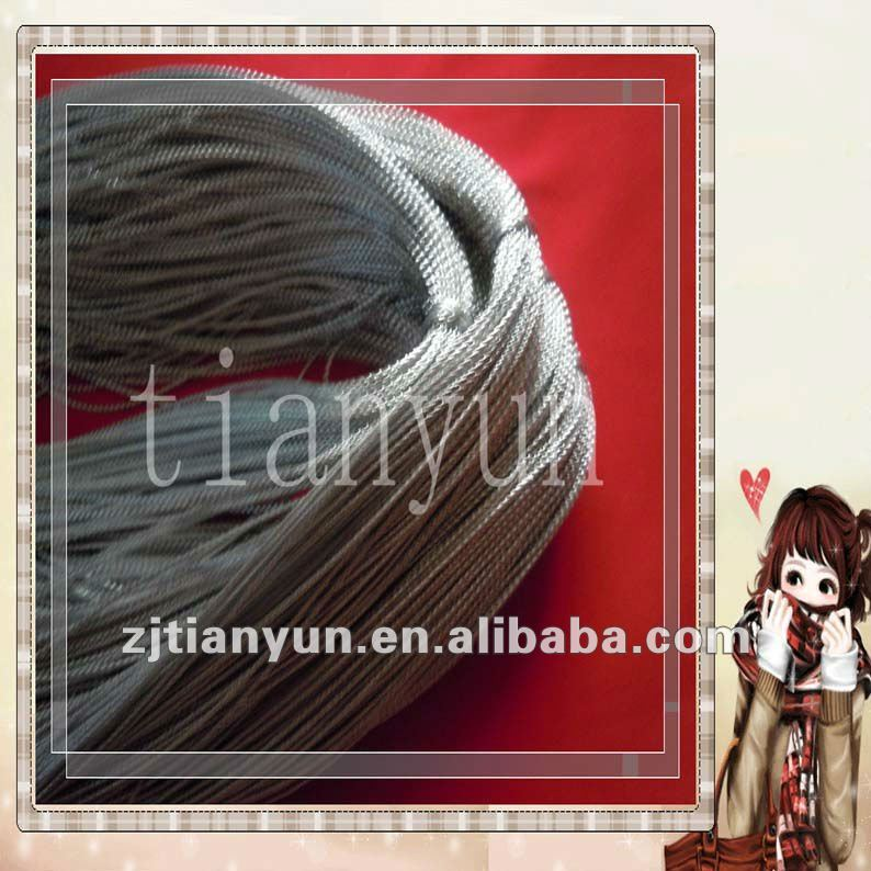 Silver braided Packaging Cord used in Garment Accessories Gift Packing