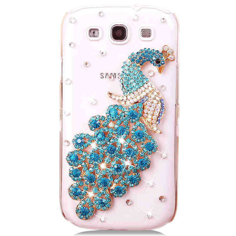 For-Samsung-Galaxy-S3-GT-I9300-phone-shell-peacock-diamond ...