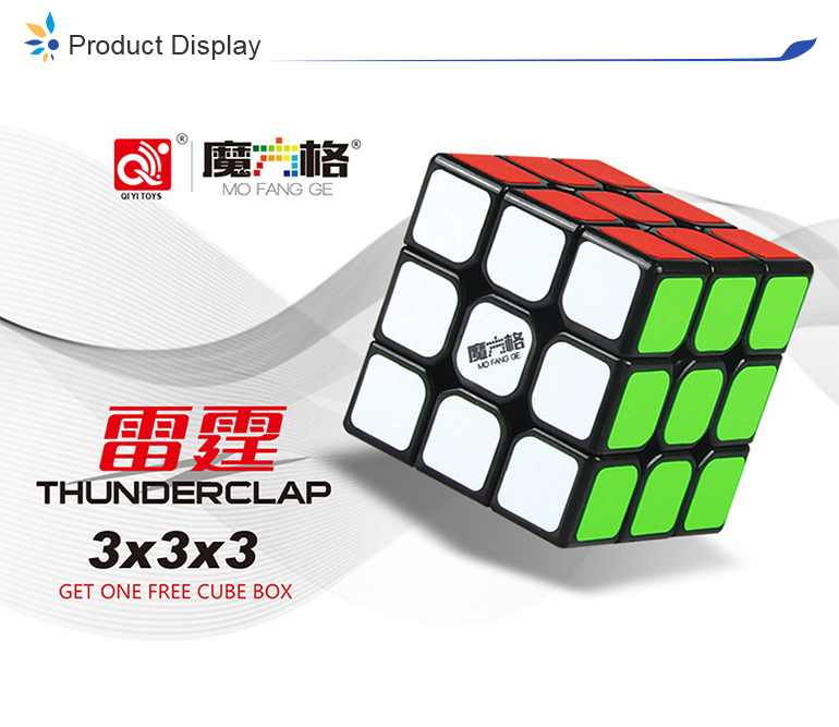 Qiyi mofangge thunderclap speed puzzle 3x3x3 cube with storage box