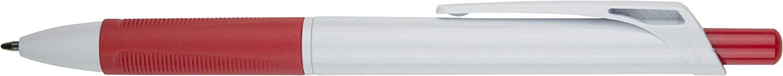 BULK - RAGNAR - BLACK INK PENS - RUBBER GRIPPER - BALLPOINT Pens - CLICK RETRACTABLE (RED, 100 PACK)