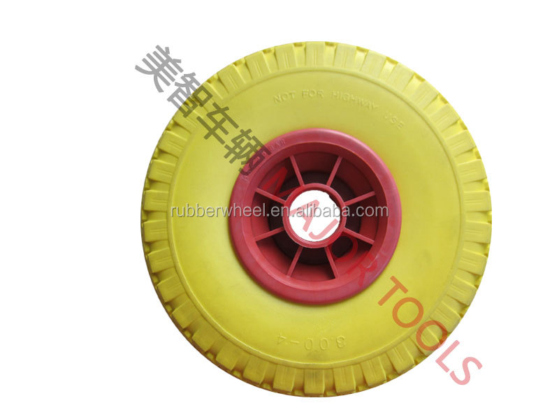 children car 10 inch flat free tyre/pu foam toy car wheel 3.00-4