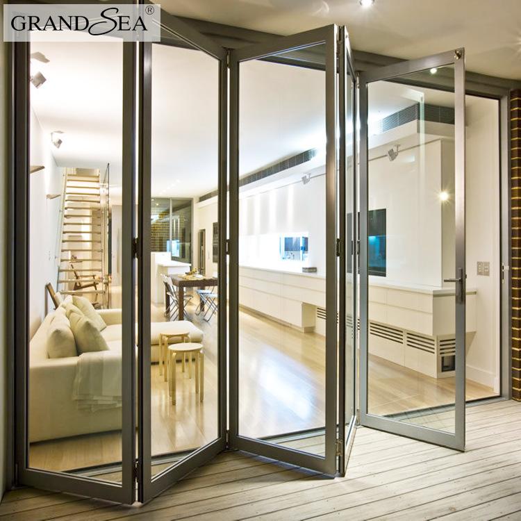 Economische Prijs Gelamineerd Dubbele Glas Accordeon Deur Installatie Voor Badkamer Met Iron Grill Ontwerp Buy Accordeon Deur Installatie Voor