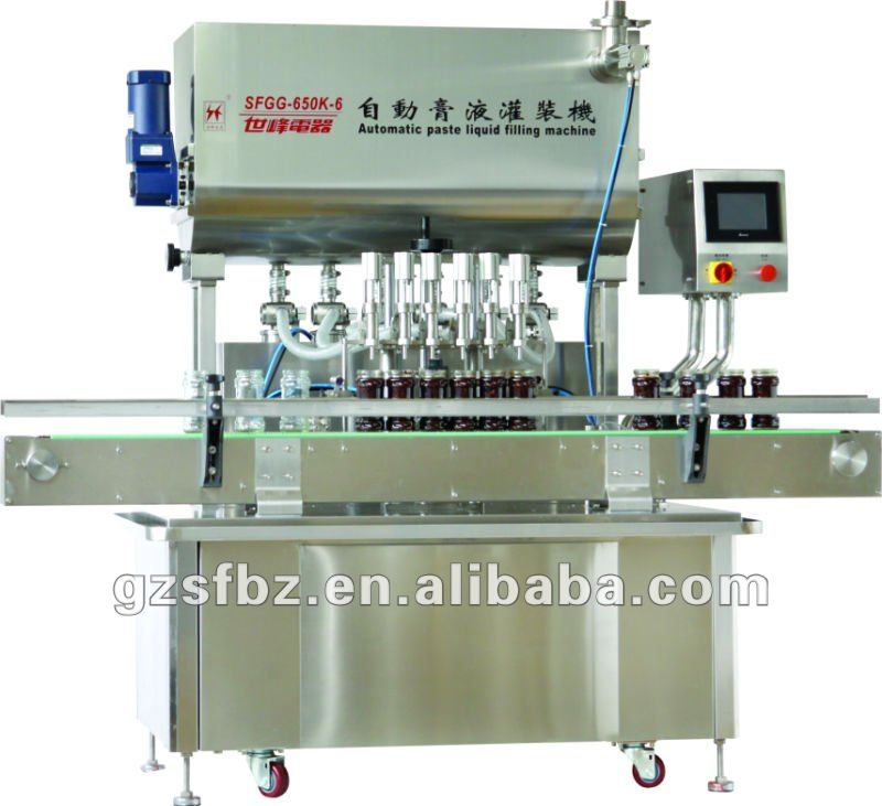 2012 Hot Sale 6 Nozzles Frequency Driven Automatic Liquid/Paste Filling Machine,Manufacturer(V)