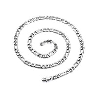 316L Color customize long stainless steel necklace chain, women men silver necklace