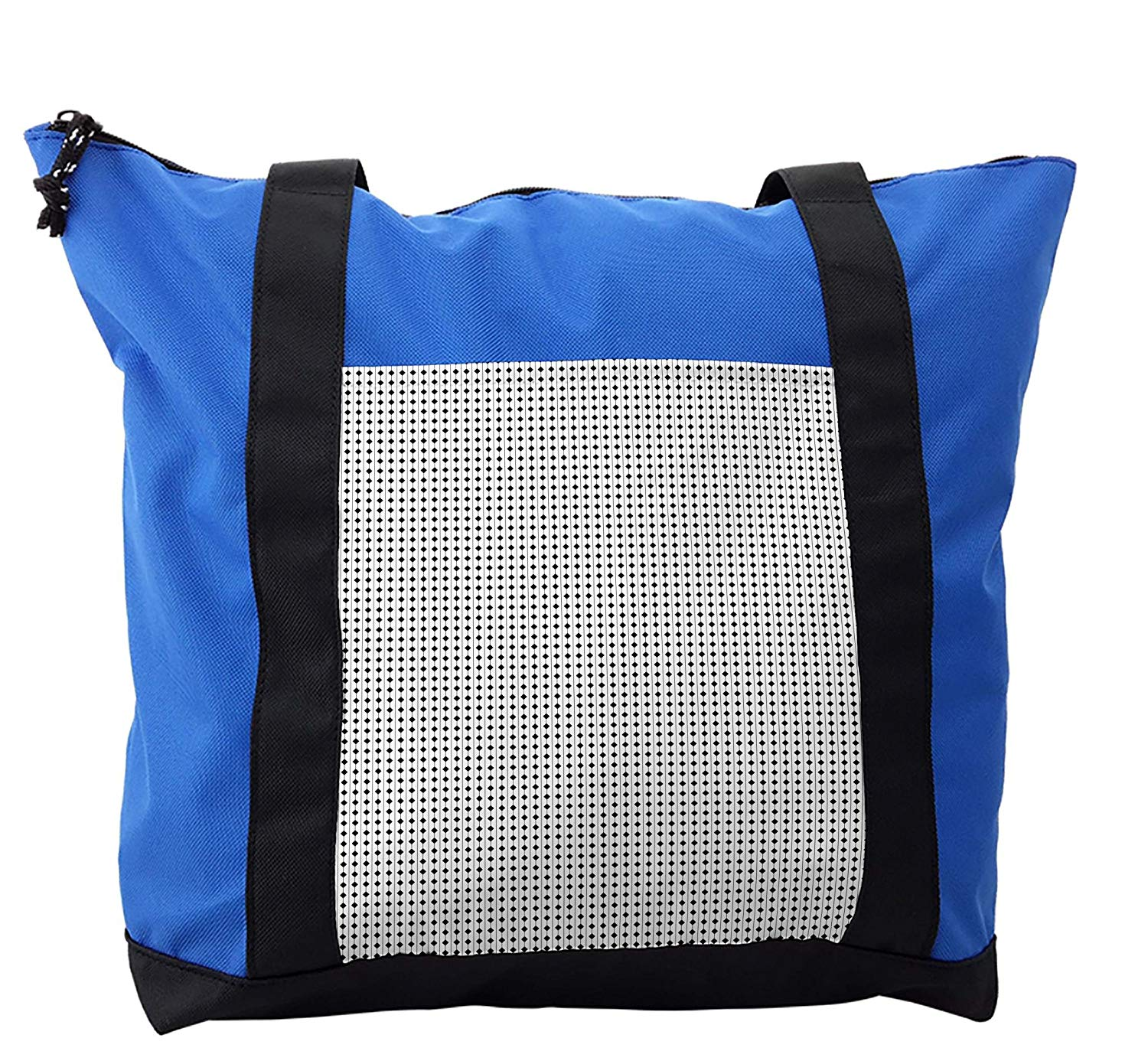 Lunarable Checkered Shoulder Bag, Vertical Lines Squares, Durable with Zipper