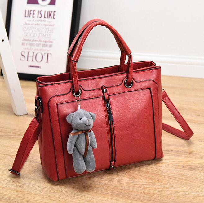 zm53858a Korean style women leather handbags many color bags women handbags