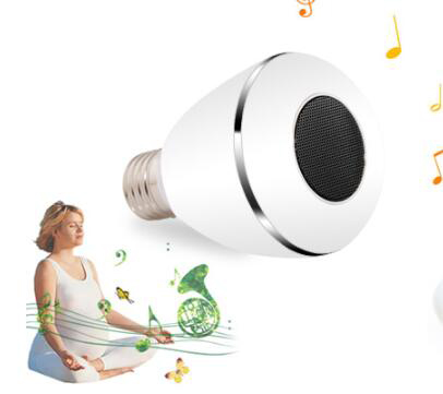 Smart Wireless multi-functional led bulb Stereo phone operated led bulb light
