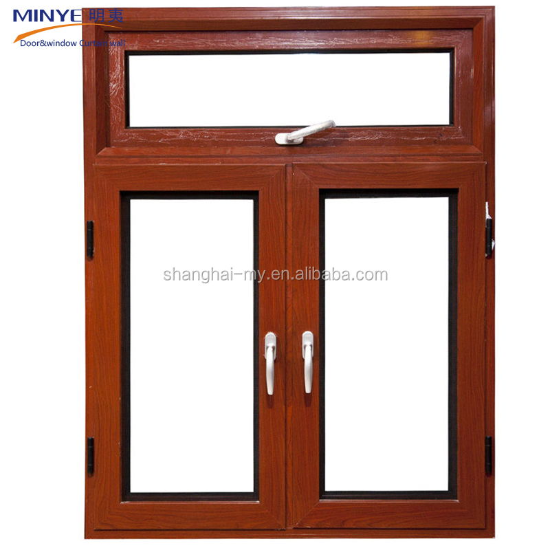 Wooden Window Frames Designs / Office Use Wood Grain Finish Aluminum ...