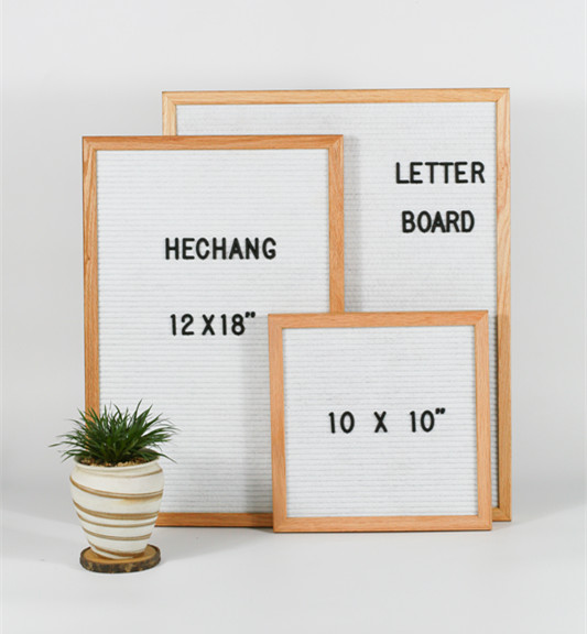 10x10 Inch Solid Oak Frame Black Felt Letter Board With 300 Letters ...