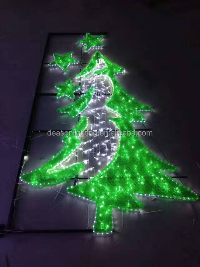 outdoor lighting christmas pole
