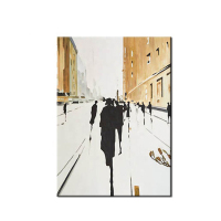 Handmade Abstract Modern Architecture Building Canvas Oil Painting