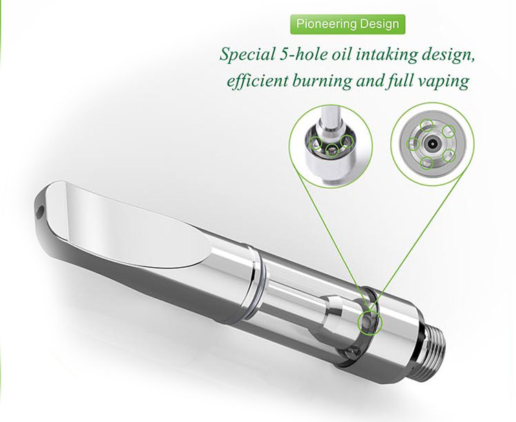 Elegant shape pyrex glass ceramic wickless vape A3-C 2ml vaporizer cartridge electronic e cigarette cartridges