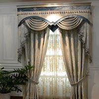 American Style Curtain Fabric Linen Material For The Living Room