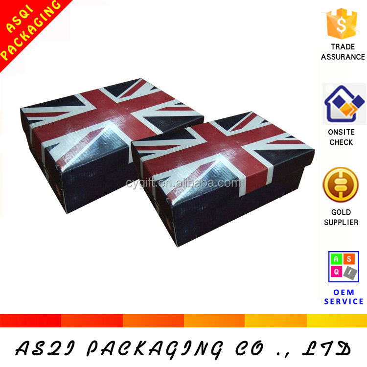 china custom recyclable packaging mini shoe box