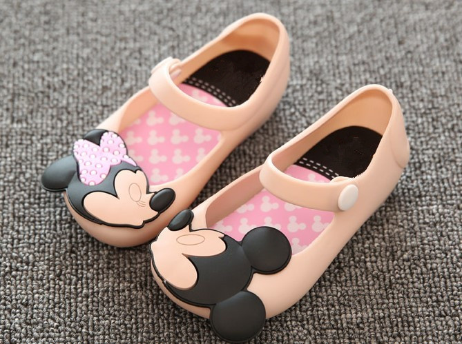 13 15 5cm mini melissa style Mickey Minnie kids toddler baby footwear little girls crystal jelly