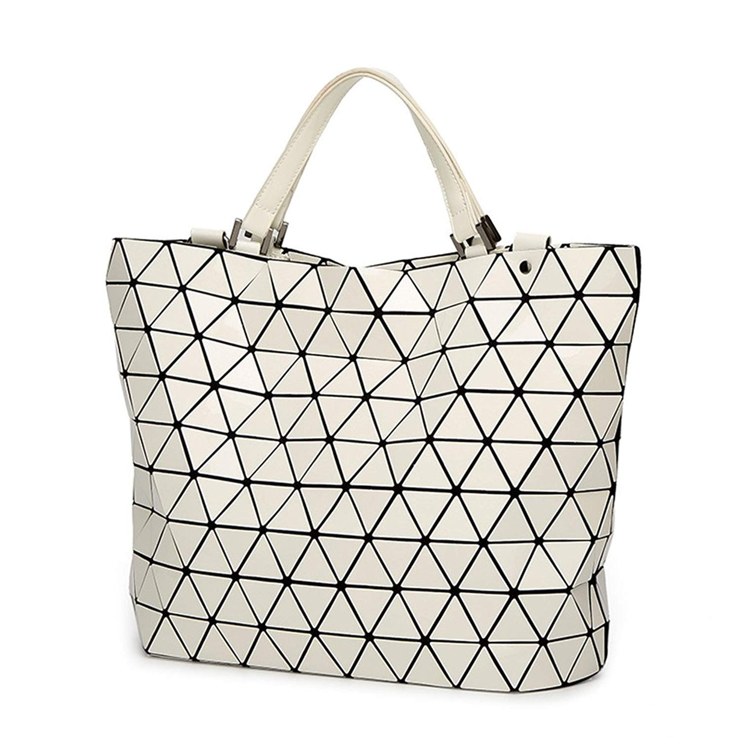 4e6636006e Get Quotations · NEW Women Japan Bags Bucket Bag Geometry Sequins Mirror  Saser Plain Folding Shoulder Bags Female Tote