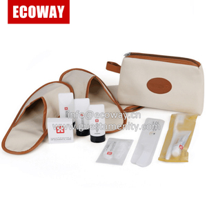 high quality portable with bag travel airline hotel amenity kit
