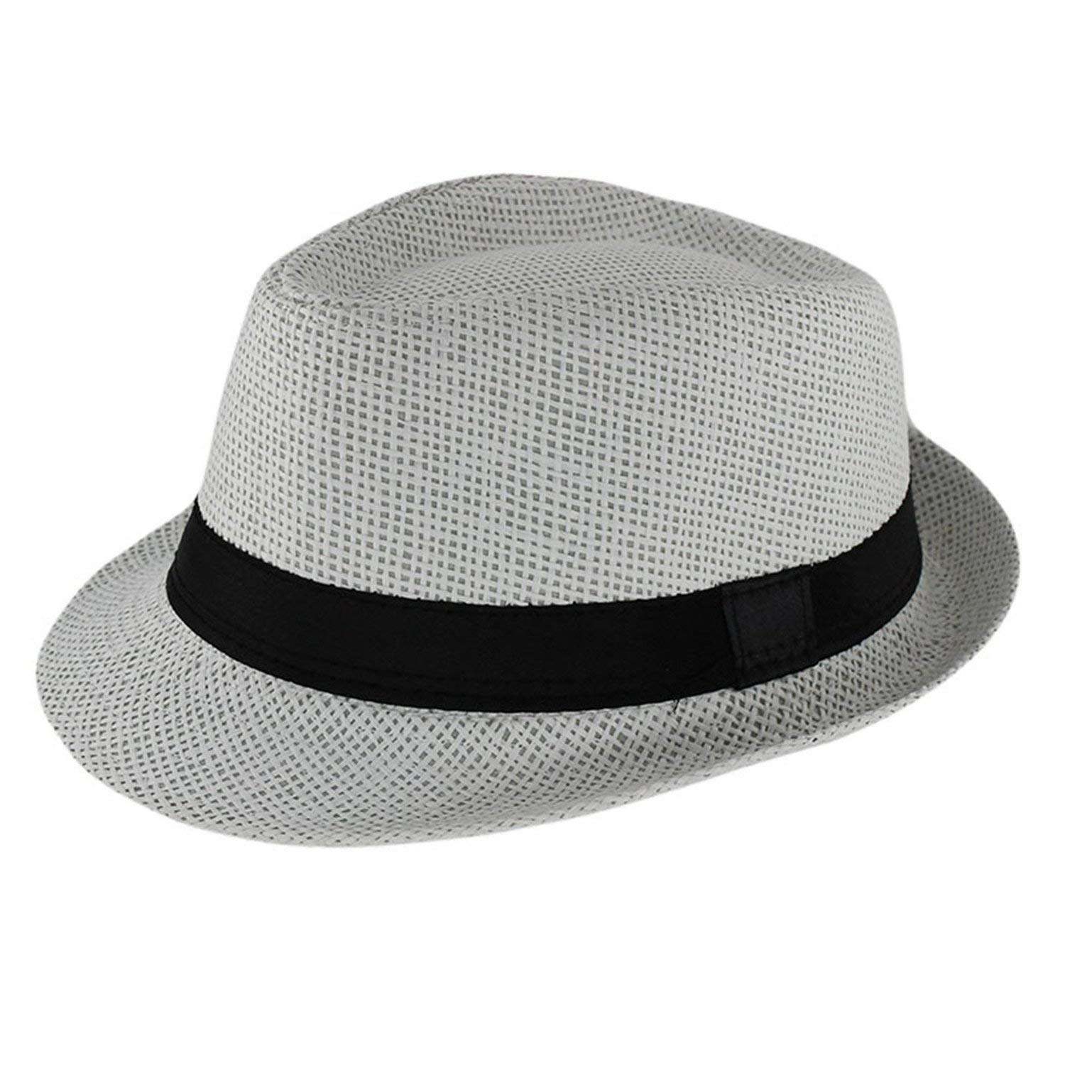 6ff569ce670fa Get Quotations · New Fashion Kids Sun Hat for Boys Summer Caps Casual Straw Caps  Children Solid Colors Bonnet