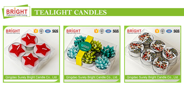Colored Wedding Party Decoration High Quality Glass Jar Candles
