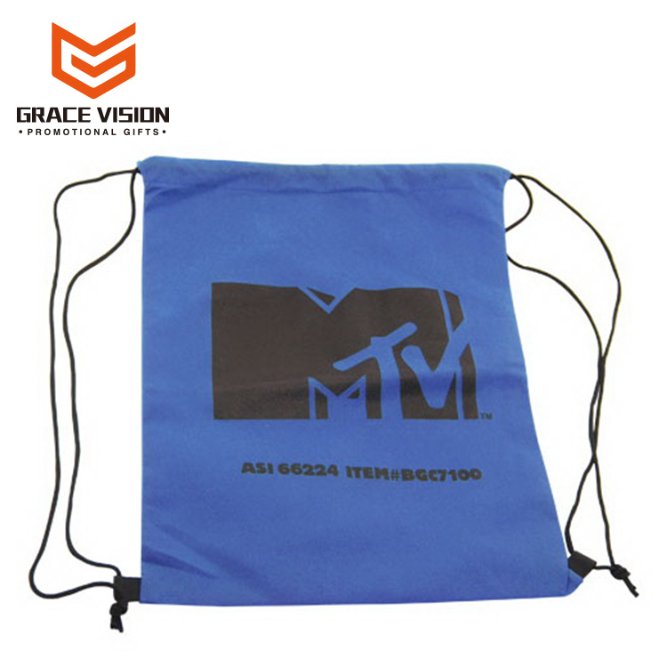 High Quality Promotion Custom Made Polyster Drawstring Shoe Bag Wholesale