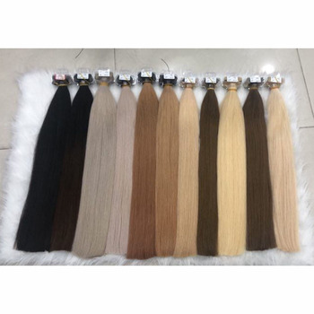 2020 factory supplier remy 100% human skin weft invisible double faced Russian tape hair extension