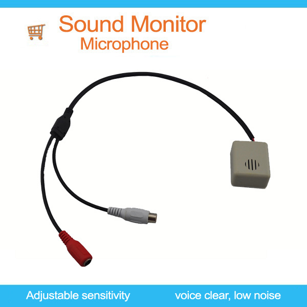 Super low price!! Microphone-sound monitor for IP camera,CCTV Microphone-Sound Monitor